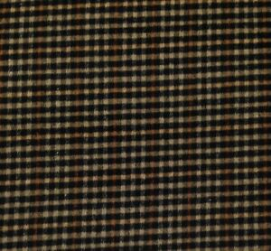 "ROBERT ALLEN BUFFALO CHECK STRIPE BLACK WOOL BLEND FABRIC BY THE YARD 57""W"