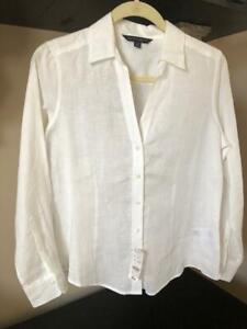 Brooks Brothers Women's Linen Blouse Size 8P NWT Retail $89.50