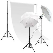 400 Watt continuous lighting kit with 7x10 backdrop stand and 6x9 White backdrop
