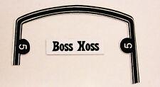 """HOTWHEELS REDLINE """"SIZZLER MUSTANG BOSS HOSS stickers """"  with door numbers"""