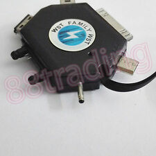 2.5mm Pin Port Retractable Charger Charging Cable for Nokia Mobile Phone