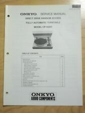 Original Onkyo Service Manual for the CP-1030F Turntable~Repair