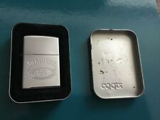 JACK DANIELS ZIPPO Lighter Old No 7 Chrome Body 2002 complete with Tin