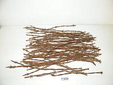 """Vintage Antique Barbed Wire 50 Pieces 12"""" To 18"""" Pieces Arts Crafts"""