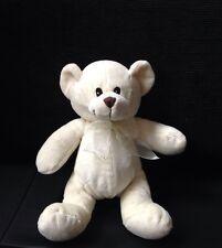 "Tesco Cream Soft Plush Teddy Comforter toy Approx 8"""