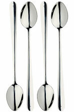 Master Class Polished Stainless Steel 4 x 19cm Long Handled Latte Sundae Spoons
