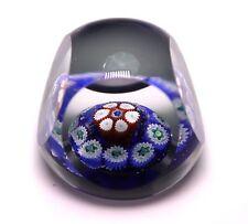 "1 3/8""' MINIATURE MILLEFIORI FLORAL ART GLASS PAPERWEIGHT"