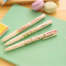 3 Automatic Ball Point Pen Ballpoint Office Stationery Write Student Gift 4 in 1