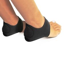 Plantar Fasciitis Therapy Wrap Black Foot Heal Arch Support Brace Set of 2