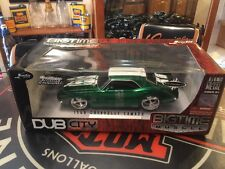 Jada 1/18 1968 Chevy Camaro Custom 396/600HP Green With Flames (extremely Rare)