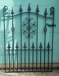 "Wrought Iron Metal Garden Gate/GatesTOP QUALITY- 3ft 6""(1067mm)Frame height-AVON"