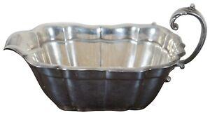 "Antique Reed & Barton Windsor Sterling Silver Ornate Gravy Boat Dish 7"" .925"