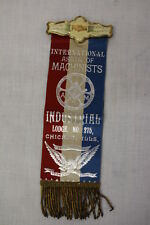 1892 Whitehead & Hoag Co PIN & RIBBON For The International Asso'n Of Machinists