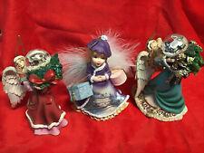 2004 Keepsake Ornament Thomas Kinkade Wings Angels Heirloom Lot Of 3