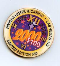 $100.00 Riviera Casino..  Las Vegas , Nevada.   Millennium Chip.