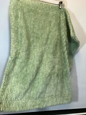 Green Chenille Pair Pillow Sham Cotton Ribbed Standard Cover