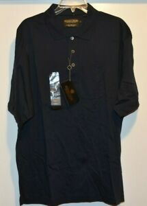 NWT Donald J Trump Signature Collection Shirt Golf Polo Embroidered Navy LARGE