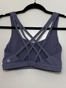 Lululemon Free To Be Serene Bra size 6 purple Blue Periwinkle