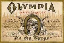 Olympia Washington Beer Bottle Label Brewery Vintage  Metal Sign USA