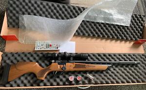 Hatsan Hydra .22 Cal Pellet Air Rifle W/ Scope(hawke vantage 4-12x40)
