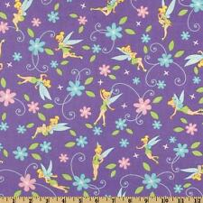 """2 yards Disney """"Tinkerbell and Flowers"""" Fabric"""