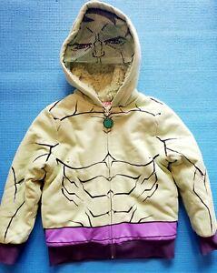 Disney Marvel Hulk Face Mask Zip Front Hooded Fleece Jacket Boys Toddler 24M 3T