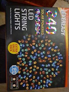 Eveready - 240 Bulb Pack Solar Powered LED String Lights, Garden Multicoloured