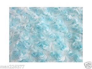 "new baby soft fabric Rose Faux Fur Photo Prop 36"" x 36"" light blue boy 1 yard"