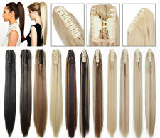 Ponytail Hair Extension One piece Claw Pony tail Extensions Hair in Natural look