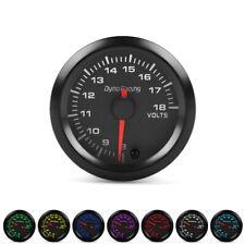 """2"""" 52mm 7 Color LED Pointer Volt Meter Voltmeter Voltage Gauge Smoke Face 8-18V"""