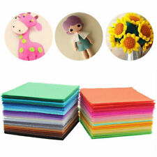 40 Colours Polyester Arts & Crafts Fabric Felt Sheets Square 1mm Thickness Dobby