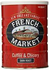 French Market Coffee & Chicory Dark Roast, City Roast, 12oz (12 Pack)