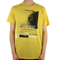 VOLCOM Mens S/S Graphic Surf Skate Street Tee T-Shirt Yellow NWT/NEW