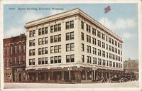 Cheyenne, WYOMING - Hynds Building - ARCHITECTURE - old cars, flags
