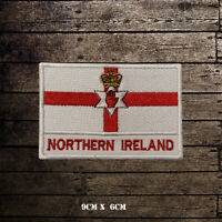 NORTHERN IRELAND Flag With Name Embroidered Iron On Sew On Patch Badge