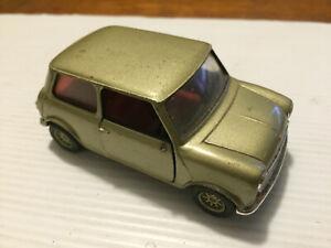 Corgi Mini Cooper gold diecast car 1/36 scale