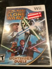 STAR WARS THE CLONE WARS LIGHTSABER DUELS Wii Brand New Factory Sealed