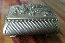 Arte E Antiquariato Pirogeno Antico In Metallo Argentato Art Nouveau Con Decorazione Fiori Ciclamino