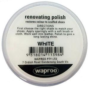 Waproo White Shoe Polish Cream - Renovating Polish - Top Quility !!