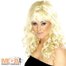Beehive Beauty Wig Blonde Ladies Fancy Dress 1950s 60s Retro Costume Accessory