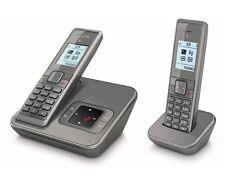 T-Sinus A206 Duo SILBERGRAU Schnurlos Telefon mit 2 Mobilteilen Anrufbeantworter