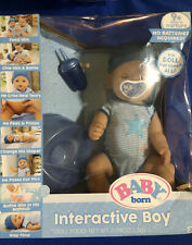 Baby Born Interactive Boy Doll Brown Eyes Bottle Pacifier Diaper Potty Seat Niob