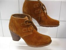 RRP£80 NEW Ladies CLARKS ARTISAN tan suede ANKLE BOOTS UK 5.5 D 39 CARLETA LYON