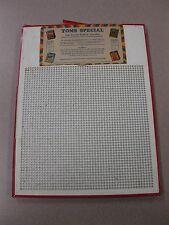 Vintage Punch Board TOMS SPECIAL .10 Cigarett Gambling Device #9071 BOX#PB-16