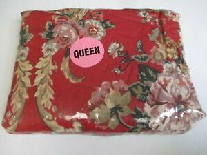 Ralph Lauren Danielle Marseilles Red Floral Fitted Sheet (Irregular) - Queen
