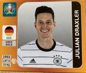 Panini Euro 2020 2021 Julian Draxler Germany Sticker Number 615