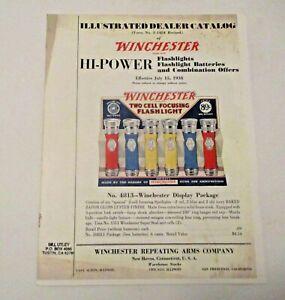 VINTAGE 1938 WINCHESTER HI-POWER FLASHLIGHTS BATTERIES & COMBO OFFERS CATALOG
