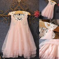 Summer Toddler Kid Baby Girls Flower Sleeveless Dresses Party Princess Sundress