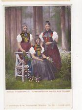 Badische Volkstrachten Schwarzwaelderinnen Aus Neustadt Postcard Germany 395a