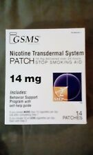 GSMS Nicotine Patch kTransdermal System Step 2 7mg 14 PATCHES Exp 10-2018
